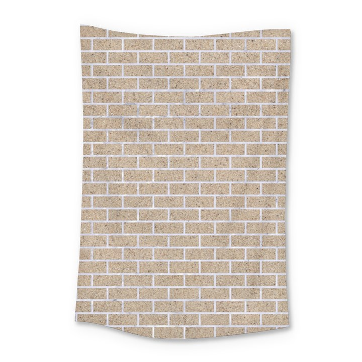 BRICK1 WHITE MARBLE & SAND Small Tapestry