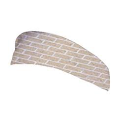 Brick1 White Marble & Sand Stretchable Headband