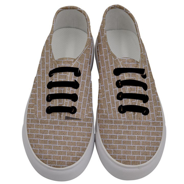 BRICK1 WHITE MARBLE & SAND Men s Classic Low Top Sneakers