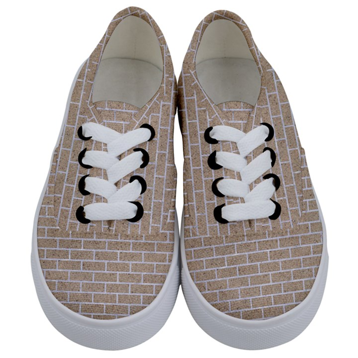 BRICK1 WHITE MARBLE & SAND Kids  Classic Low Top Sneakers