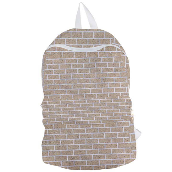 BRICK1 WHITE MARBLE & SAND Foldable Lightweight Backpack