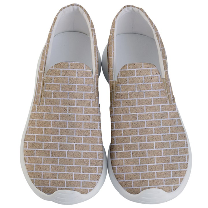 BRICK1 WHITE MARBLE & SAND Men s Lightweight Slip Ons