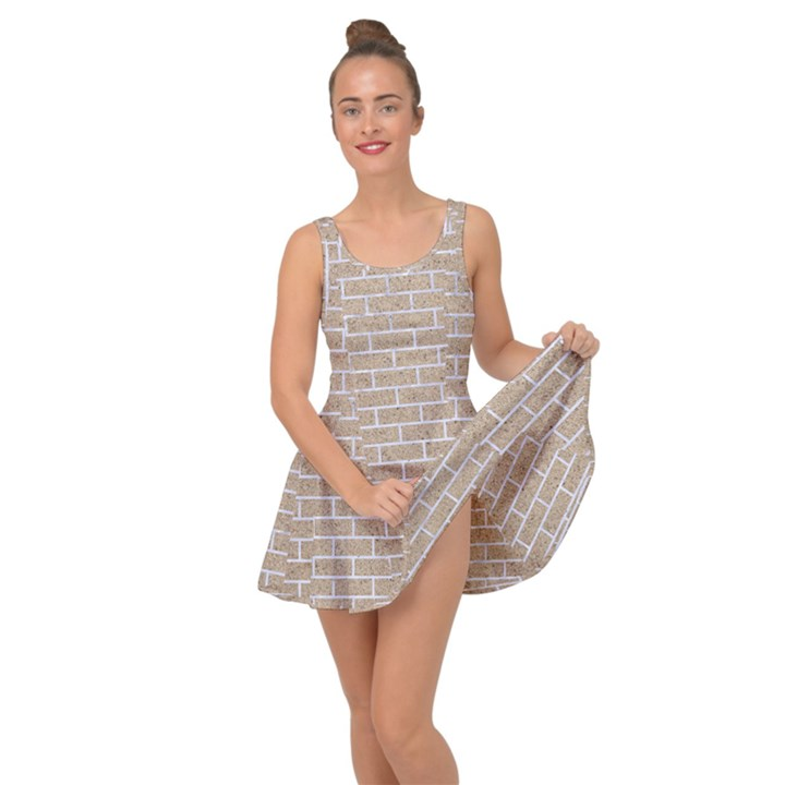 BRICK1 WHITE MARBLE & SAND Inside Out Dress