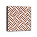 WOVEN2 WHITE MARBLE & RUSTED METAL (R) Mini Canvas 4  x 4  View1