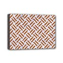 WOVEN2 WHITE MARBLE & RUSTED METAL (R) Mini Canvas 7  x 5  View1