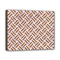 WOVEN2 WHITE MARBLE & RUSTED METAL (R) Canvas 10  x 8  View1