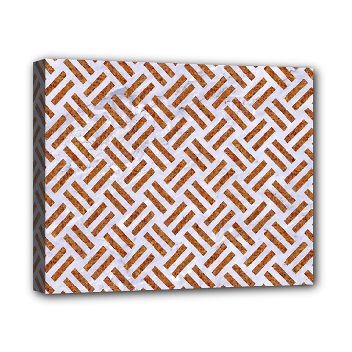 WOVEN2 WHITE MARBLE & RUSTED METAL (R) Canvas 10  x 8