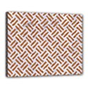 WOVEN2 WHITE MARBLE & RUSTED METAL (R) Canvas 20  x 16  View1