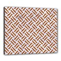 WOVEN2 WHITE MARBLE & RUSTED METAL (R) Canvas 24  x 20  View1