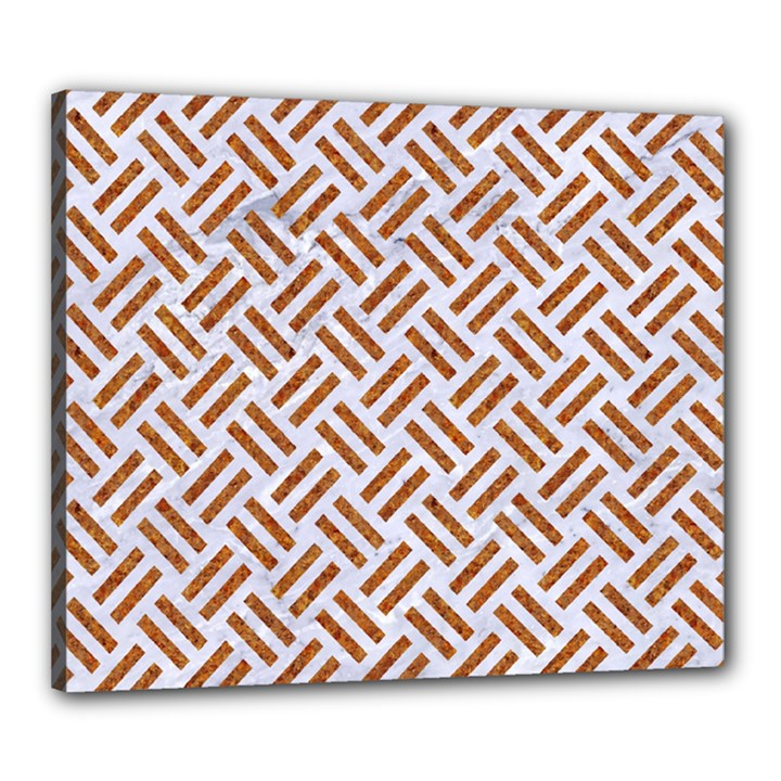 WOVEN2 WHITE MARBLE & RUSTED METAL (R) Canvas 24  x 20