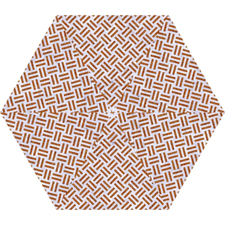 WOVEN2 WHITE MARBLE & RUSTED METAL (R) Mini Folding Umbrellas
