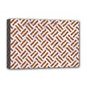 WOVEN2 WHITE MARBLE & RUSTED METAL (R) Deluxe Canvas 18  x 12   View1