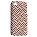 WOVEN2 WHITE MARBLE & RUSTED METAL (R) Apple iPhone 4/4S Hardshell Case (PC+Silicone) View2