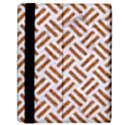 WOVEN2 WHITE MARBLE & RUSTED METAL (R) Samsung Galaxy Tab 10.1  P7500 Flip Case View2