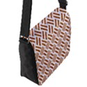 WOVEN2 WHITE MARBLE & RUSTED METAL (R) Flap Messenger Bag (S) View2