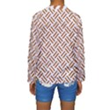 WOVEN2 WHITE MARBLE & RUSTED METAL (R) Kids  Long Sleeve Swimwear View2