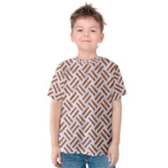 Woven2 White Marble & Rusted Metal (r) Kids  Cotton Tee