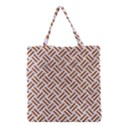 WOVEN2 WHITE MARBLE & RUSTED METAL (R) Grocery Tote Bag View1
