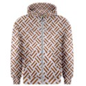 WOVEN2 WHITE MARBLE & RUSTED METAL (R) Men s Zipper Hoodie View1