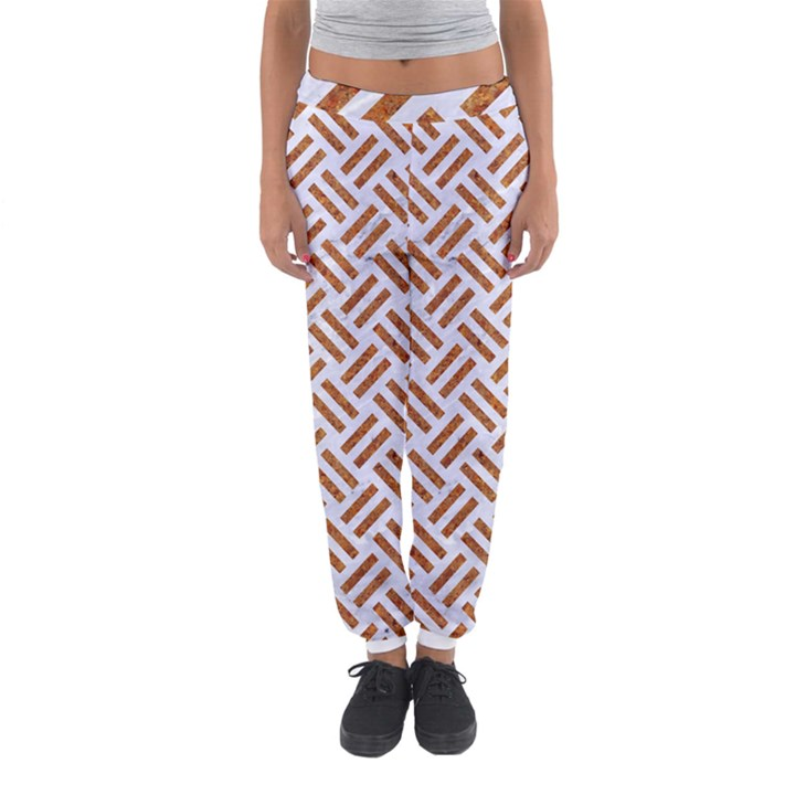 WOVEN2 WHITE MARBLE & RUSTED METAL (R) Women s Jogger Sweatpants