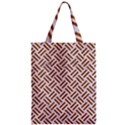 WOVEN2 WHITE MARBLE & RUSTED METAL (R) Zipper Classic Tote Bag View1