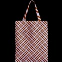 WOVEN2 WHITE MARBLE & RUSTED METAL (R) Zipper Classic Tote Bag View2