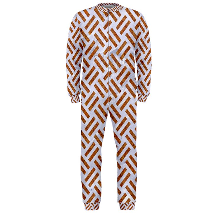 WOVEN2 WHITE MARBLE & RUSTED METAL (R) OnePiece Jumpsuit (Men)