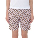 WOVEN2 WHITE MARBLE & RUSTED METAL (R) Women s Basketball Shorts View1