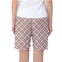 WOVEN2 WHITE MARBLE & RUSTED METAL (R) Women s Basketball Shorts View2