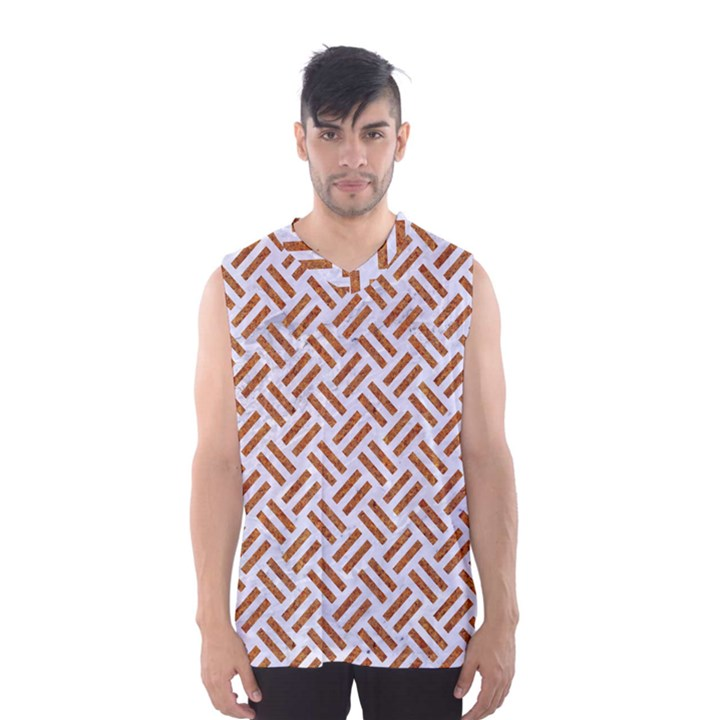 WOVEN2 WHITE MARBLE & RUSTED METAL (R) Men s Basketball Tank Top