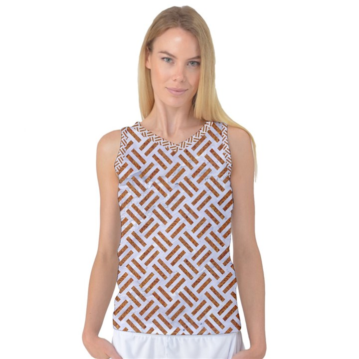 WOVEN2 WHITE MARBLE & RUSTED METAL (R) Women s Basketball Tank Top