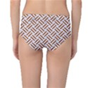 WOVEN2 WHITE MARBLE & RUSTED METAL (R) Mid-Waist Bikini Bottoms View2