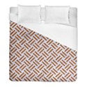 WOVEN2 WHITE MARBLE & RUSTED METAL (R) Duvet Cover (Full/ Double Size) View1