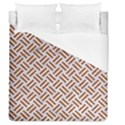 WOVEN2 WHITE MARBLE & RUSTED METAL (R) Duvet Cover (Queen Size) View1