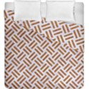 WOVEN2 WHITE MARBLE & RUSTED METAL (R) Duvet Cover Double Side (King Size) View1