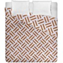 WOVEN2 WHITE MARBLE & RUSTED METAL (R) Duvet Cover Double Side (California King Size) View1