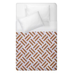Woven2 White Marble & Rusted Metal (r) Duvet Cover (single Size)