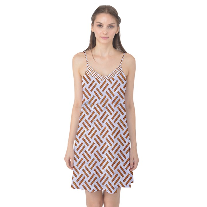 WOVEN2 WHITE MARBLE & RUSTED METAL (R) Camis Nightgown