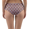 WOVEN2 WHITE MARBLE & RUSTED METAL (R) Reversible Mid-Waist Bikini Bottoms View4