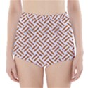 WOVEN2 WHITE MARBLE & RUSTED METAL (R) High-Waisted Bikini Bottoms View1