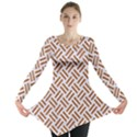WOVEN2 WHITE MARBLE & RUSTED METAL (R) Long Sleeve Tunic  View1