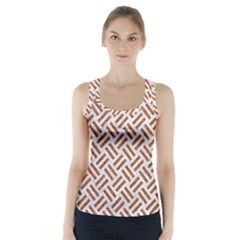 Woven2 White Marble & Rusted Metal (r) Racer Back Sports Top