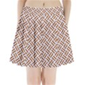 WOVEN2 WHITE MARBLE & RUSTED METAL (R) Pleated Mini Skirt View1