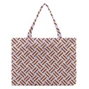WOVEN2 WHITE MARBLE & RUSTED METAL (R) Medium Tote Bag View1