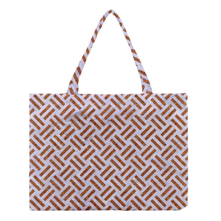 WOVEN2 WHITE MARBLE & RUSTED METAL (R) Medium Tote Bag