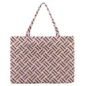 WOVEN2 WHITE MARBLE & RUSTED METAL (R) Zipper Medium Tote Bag View1