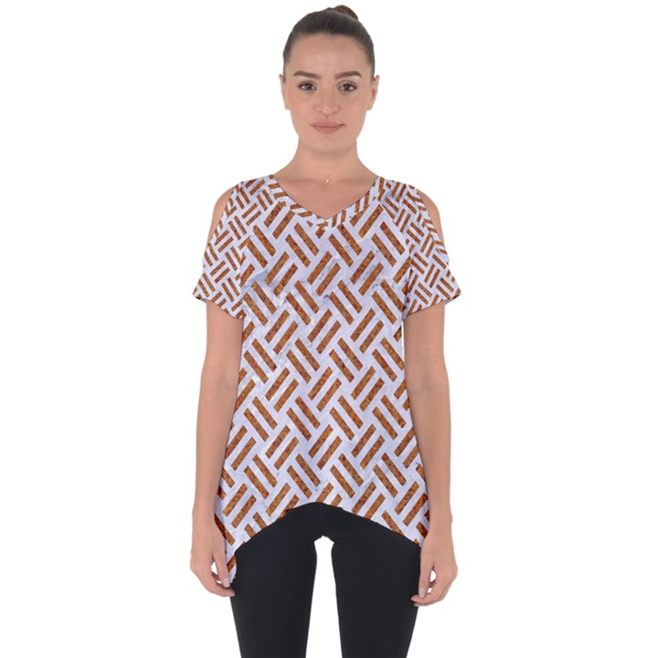 WOVEN2 WHITE MARBLE & RUSTED METAL (R) Cut Out Side Drop Tee