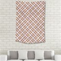 WOVEN2 WHITE MARBLE & RUSTED METAL (R) Small Tapestry View2