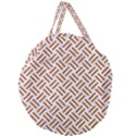 WOVEN2 WHITE MARBLE & RUSTED METAL (R) Giant Round Zipper Tote View1