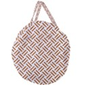 WOVEN2 WHITE MARBLE & RUSTED METAL (R) Giant Round Zipper Tote View2